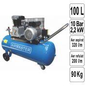 Compresor de Aer 100 L - AIR3SHU10100-PR