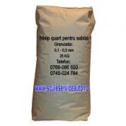 Nisip pentru Sablare in Sac de 25 Kg (Granulatia: 0,1 - 0,3 mm)