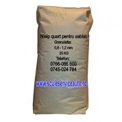 Nisip pentru Sablare in Sac de 25 Kg (Granulatia: 0,8 - 1,2 mm)