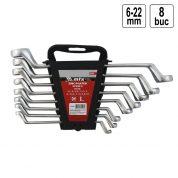 Set de chei inelare cotite 6-22 mm - 8 bucati - 153329-TW