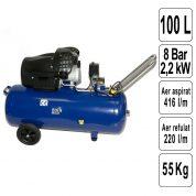 Compresor de Aer 100 L - TRAE100VFL-MK