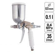 Pistol de Vopsit Pneumatic 0,5 mm - 100 ml - 573189-TW