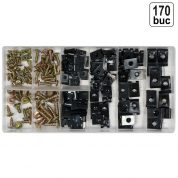 Set Suruburi si Cleme pentru Caroserie - 170 bucati - YT-06780
