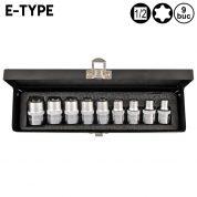 """Set Tubulare Torx E-Type E10 - E24 - 1/2"""" - 9 bucati - YT-0521"""