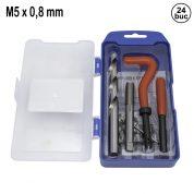 Kit de Reparatie Filet M8 x 0,8 mm - 24 buc - QS14187A