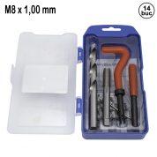 Kit de Reparatie Filet M8 x 1,00 mm - 14 buc - QS14187M
