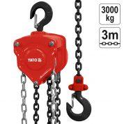 Palan manual cu Lant 3000 Kg - lant 3 m - YT-58954