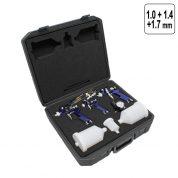 Set Pistol de Vopsit 1,0 - 1,4 - 1,7 mm - HVLP - 3 buc + Regulator - H810-51-MT