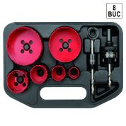 Set carote BI-METAL 22 - 73 mm - 8 buc - YT-3380