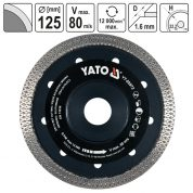 Disc Diamantat Turbo, Ultra-Subtire, 125 mm - YT-59972