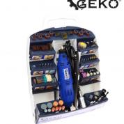 Set mini polizor drept cu accesorii 270W - Geko G81220-MT